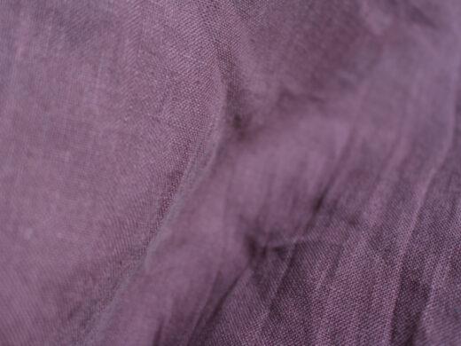 Tissu lin au mètre Aubergine Maison Normande Home Decor
