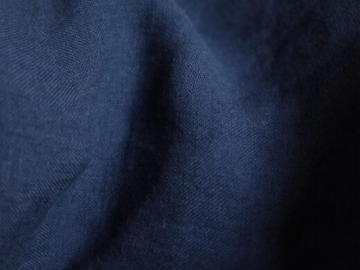 Tissu lin au mètre Bleu Nuit maison Normande Home Decor
