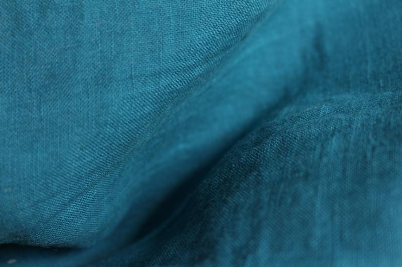 Tissu lin au mètre Bleu pétrole Maison Normande Home Decor