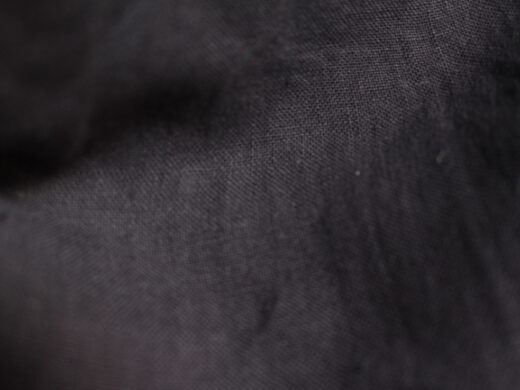 Tissu lin au mètre gris carbone Maison Normande Home Decor