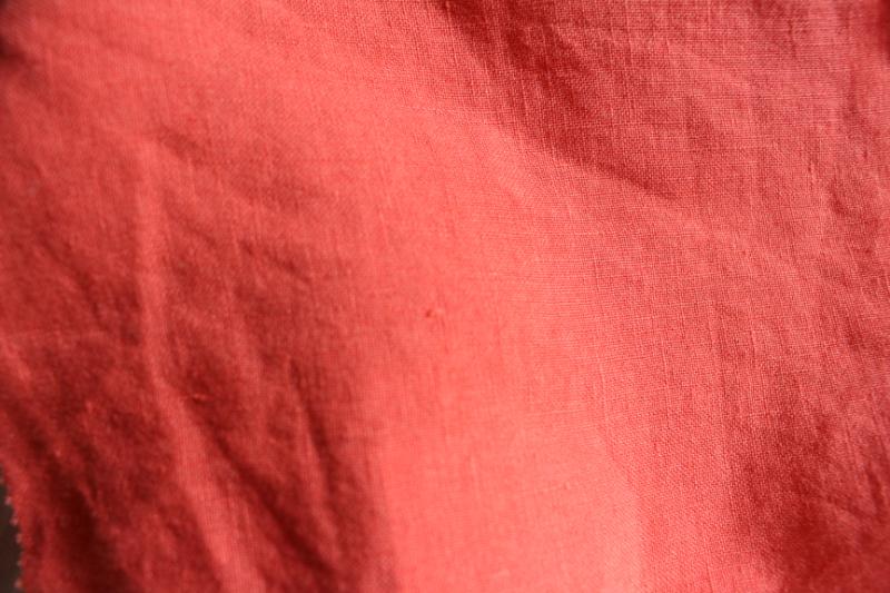 Tissu lin au mètre Corail Maison Normande Home Decor