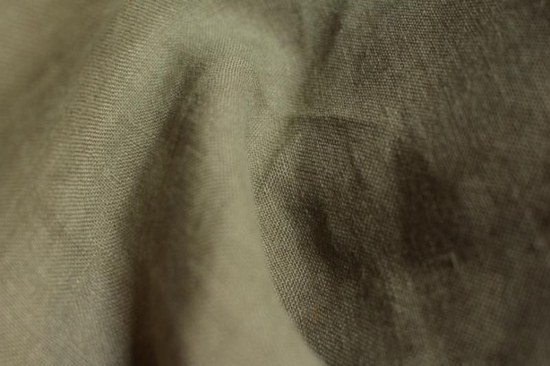 Tissu lin au mètre Kaki Maison Normande Home Decor