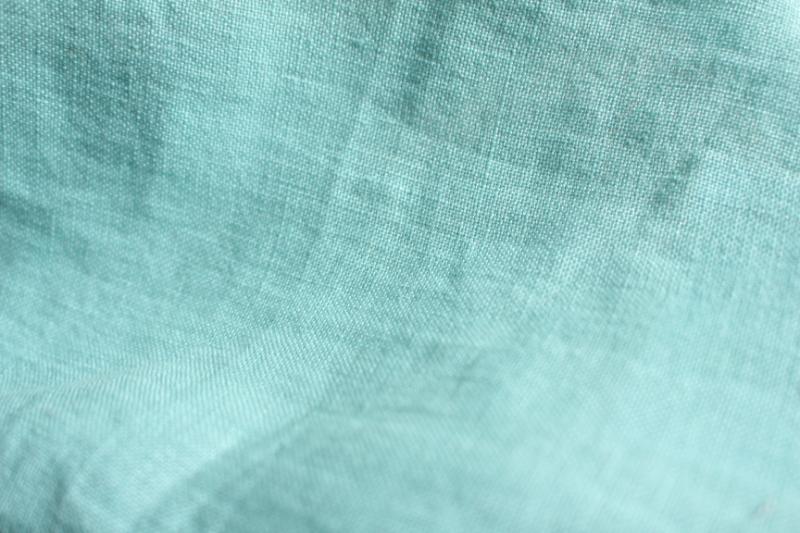 Tissu lin au mètre Bleu Lagon Maison Normande Home Decor