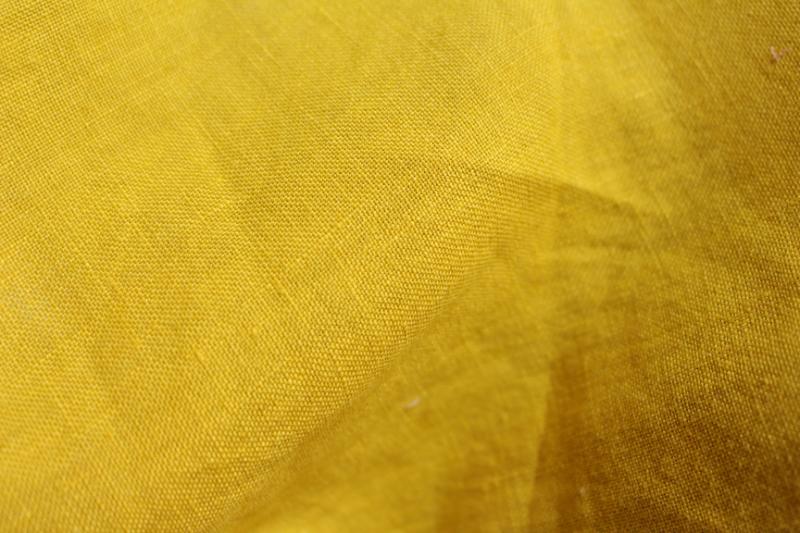 Tissu lin au mètre Mangue Maison Normande Home Decor