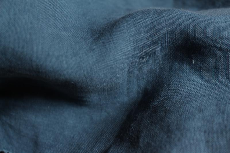 Tissu lin au mètre bleu Marine Maison Normande Home Decor