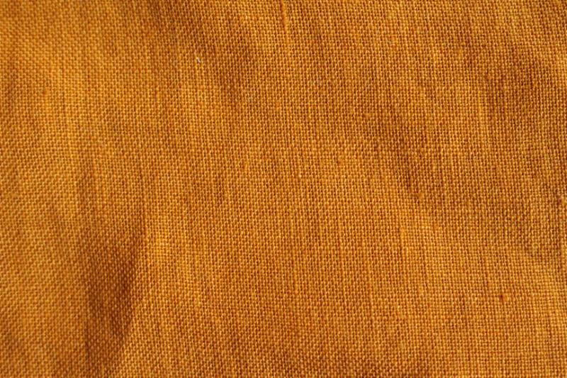 Tissu lin au mètre Ocre Maison Normande Home Decor