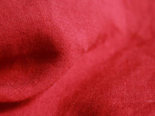 Tissu lin au mètre Rouge Opera Maison Normande Home Decor