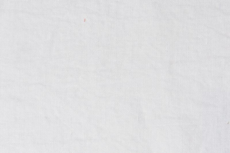 Tissu lin au mètre blanc Optique Maison Normande Home Decor
