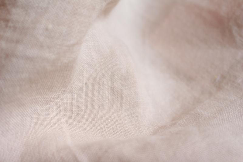 Tissu lin au mètre Rose Passion Maison Normande Home Decor