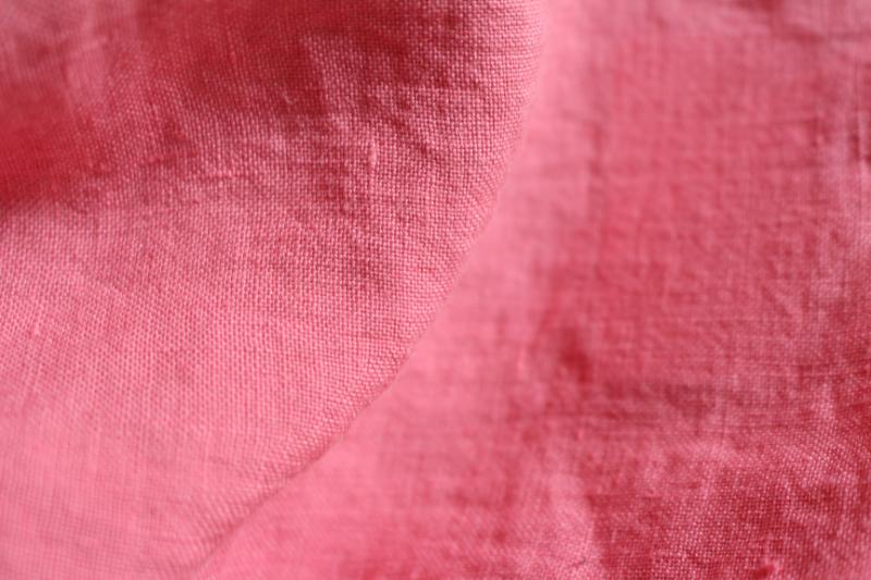 Tissu lin au mètre Rose Maison Normande Home Decor