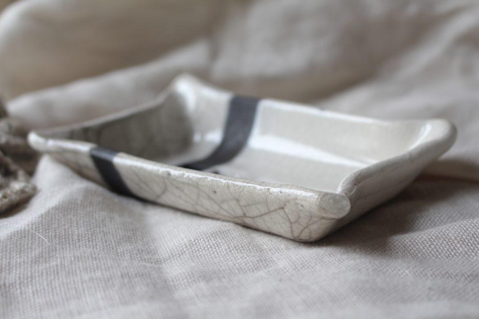 porte-savon en ceramique raku