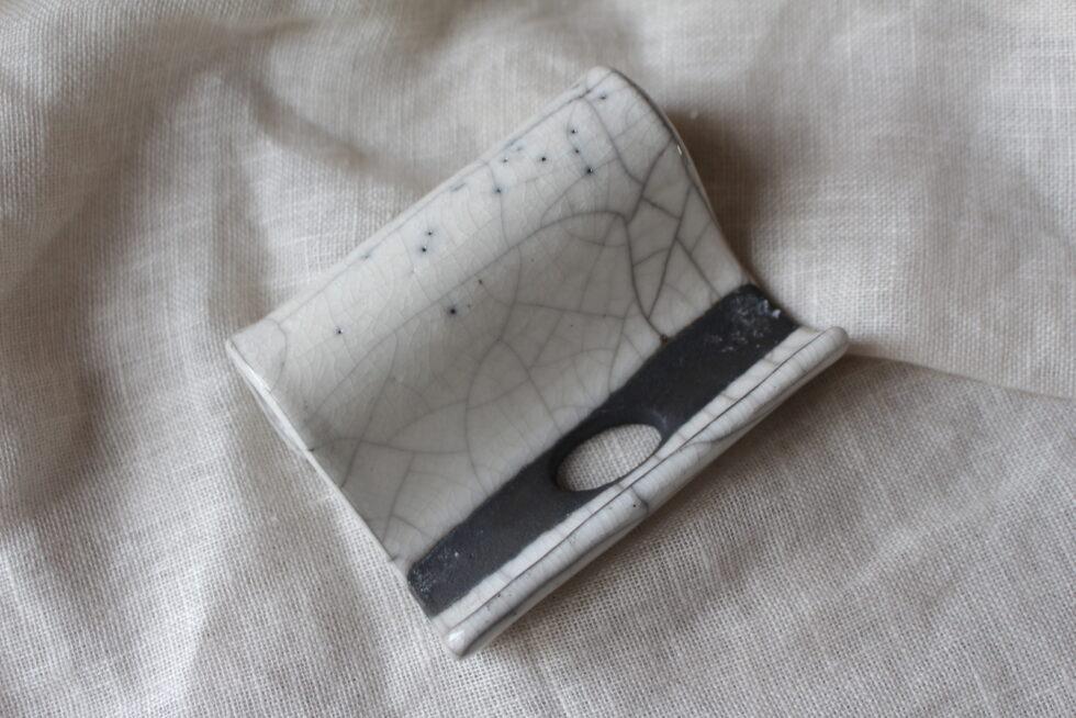 porte-savon en ceramique raku N°6 MAison Normande Home Decor