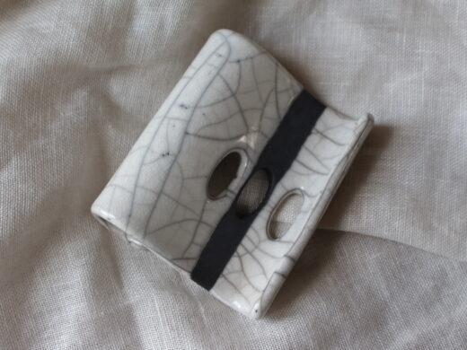 porte-savon en ceramique raku @maisonnormande.boutique