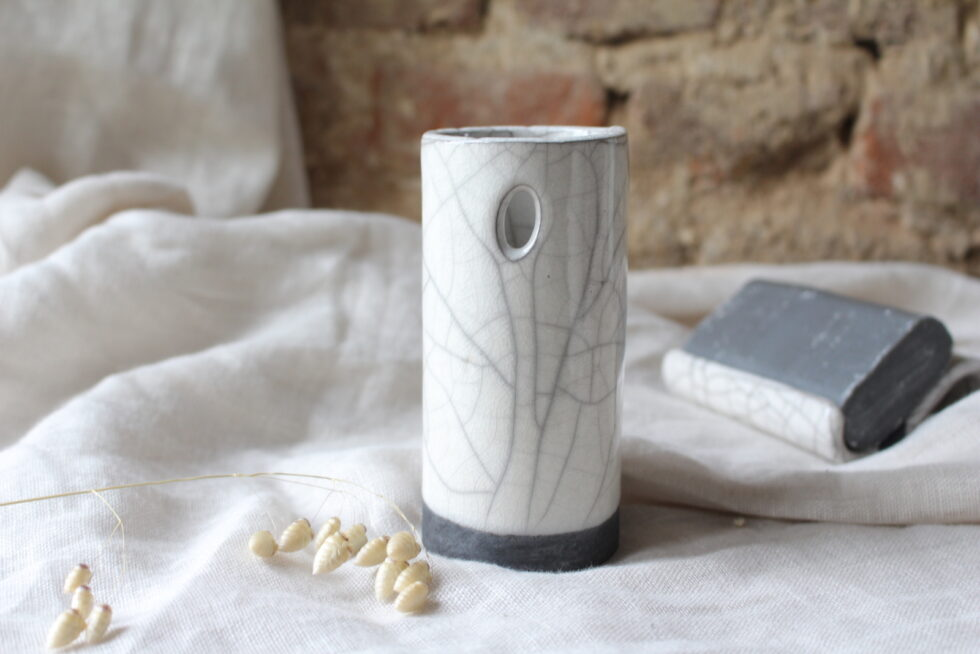 porte-brosses à dents en ceramique Raku N°1 Maison Normande Home Decor