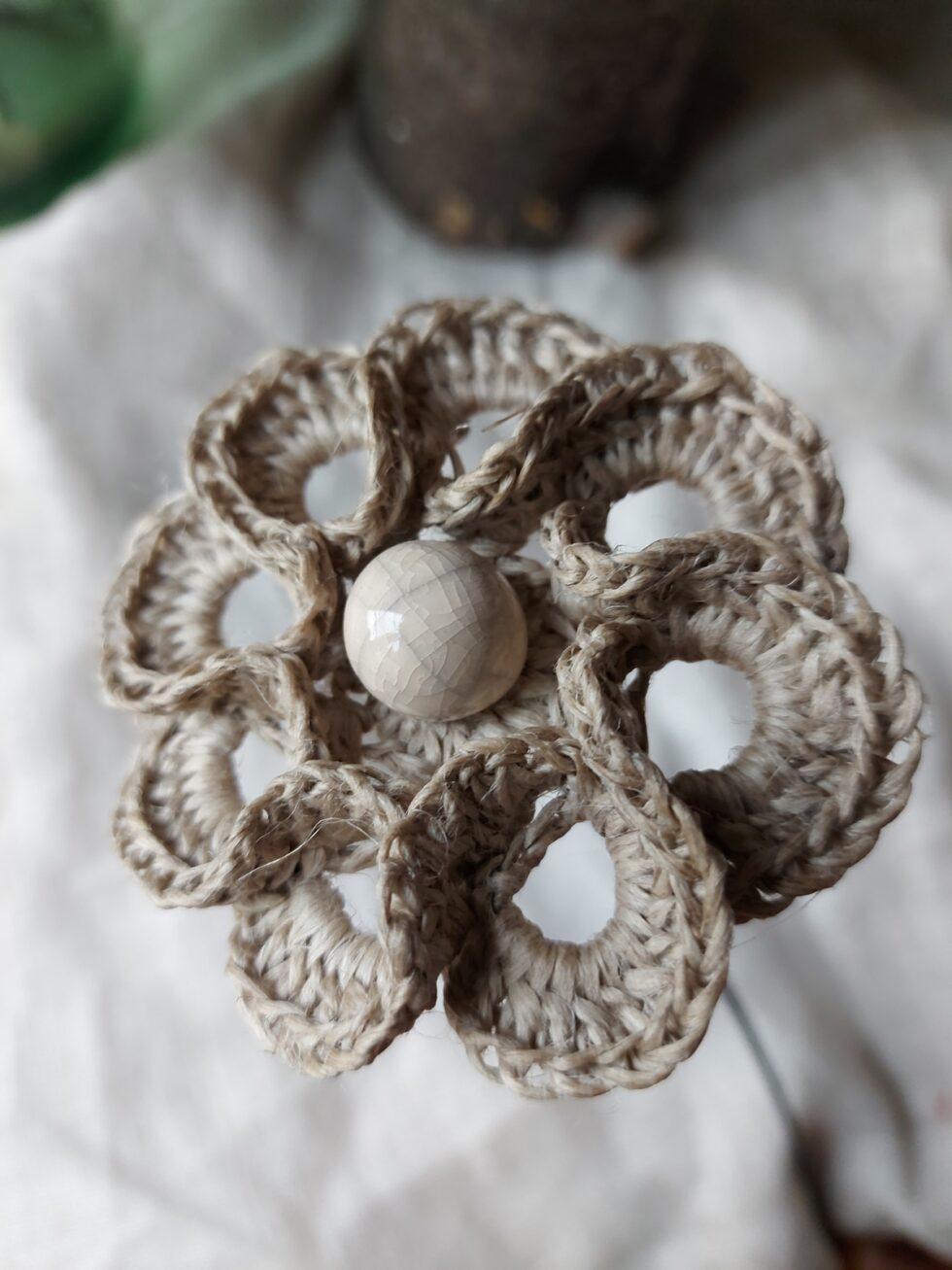 fleur en lin @maisonnormande.boutique