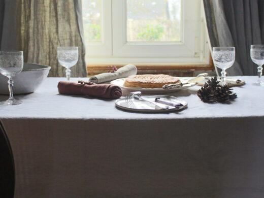 nappe en lin blanc Maison Normande Home Decor