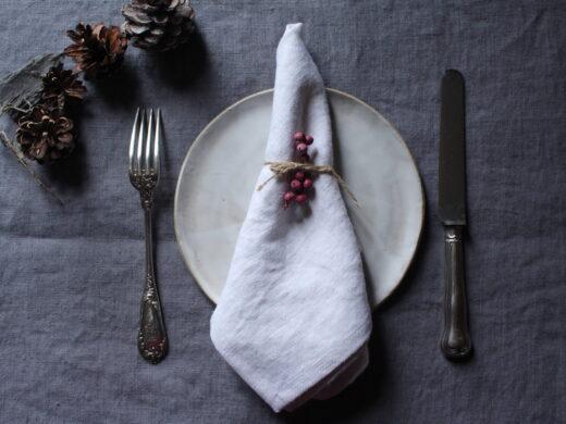 serviette de table en lin @maisonnormande.boutique