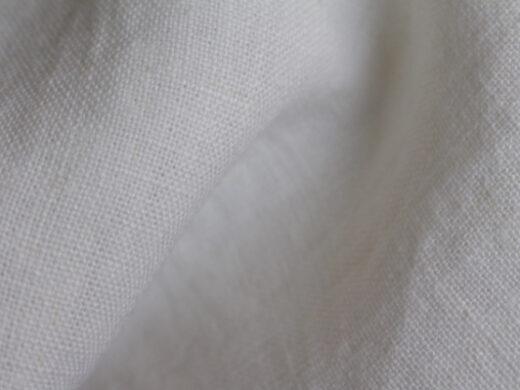tissu lin au mètre pour ameublement blanc Optique Maison Normande Home Decor