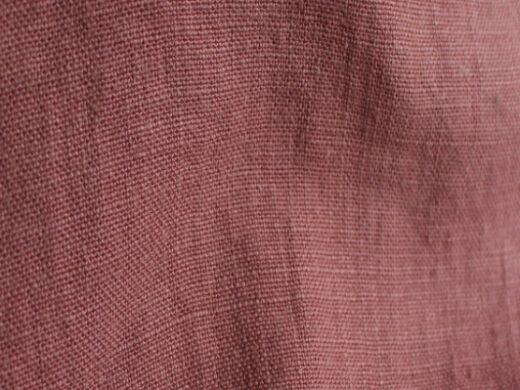 tissu lin au mètre Brique pour ameublement Maison Normande Home Decor