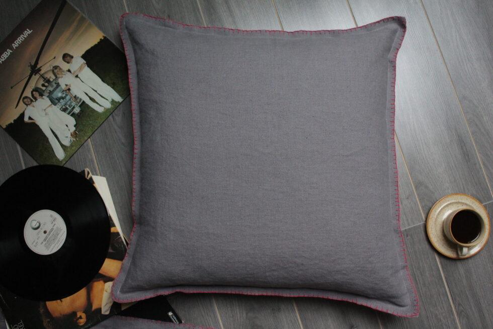 Housse de coussin lin gris Maison Normande Home Decor