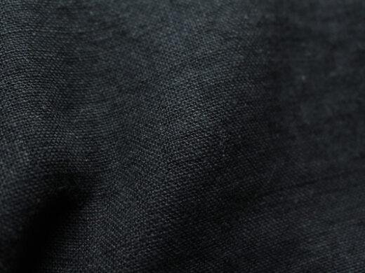 tissu lin bleu Nuit Maison Normande Home Decor