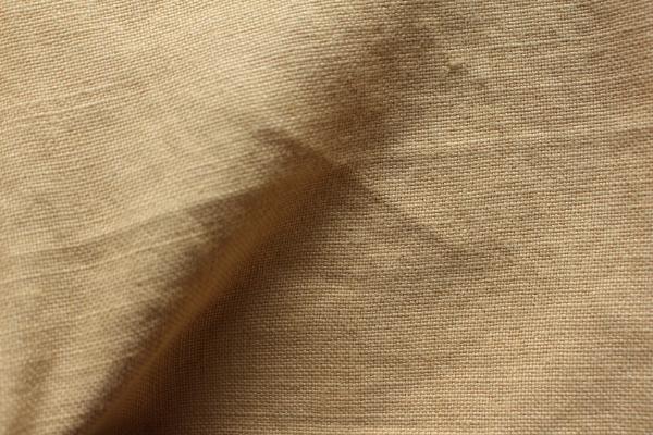tissu lin au mètre jaune blé Maison Normande Home Décor