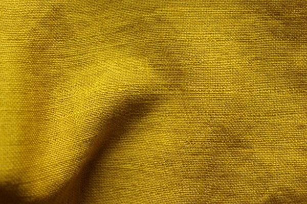 tissu lin au mètre pour ameublement jaune Tournesol Maison Normande Home Decor