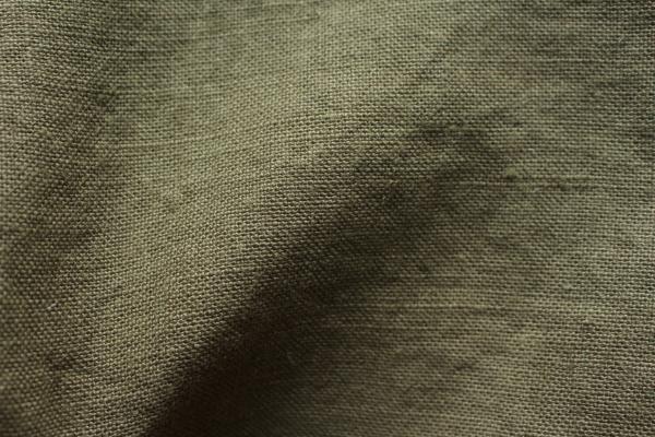 tissu lin au mètre vert kaki Maison Normande Home decor