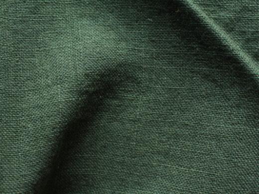 tissu lin au mètre vert fonce Maison Normande Home Decor
