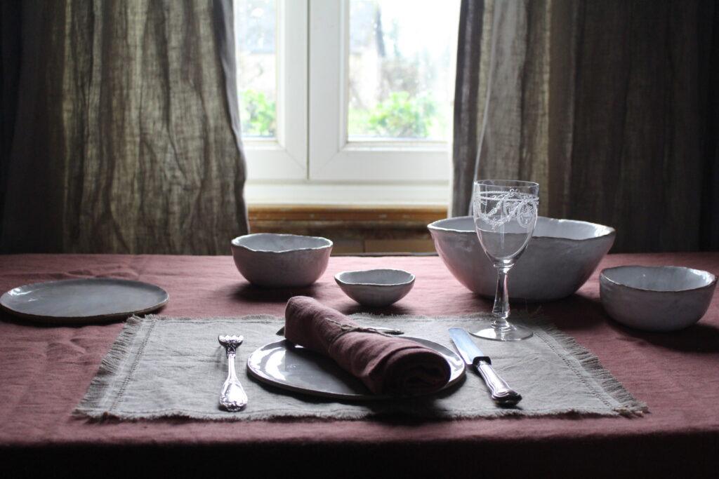 linen tablecloth @ maisonnormande.boutique