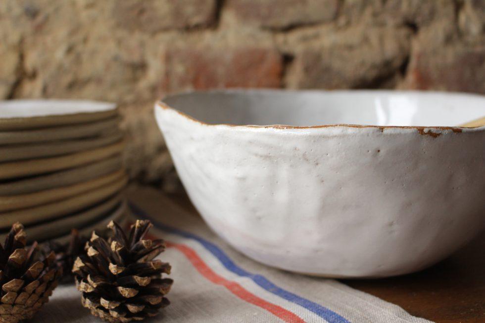 saladier en grès blanc Maison Normande Home Decor