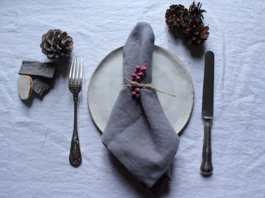 serviette de table en lin maison normande home decor