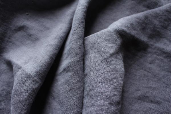 Tissu lin au mètre gris Souris Maison Normande Home Decor