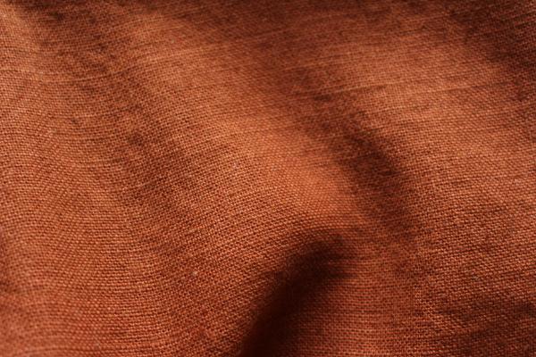 Tissu lin au mètre Acajou pour ameublement Maison Normande Home Decor