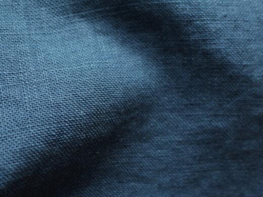Tissu lin au mètre Bleu Copen Maison Normande Home Decor