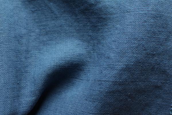 tissu lin au mètre bleu Paon Maison Normande Home Decor