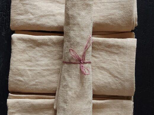 serviette de table en lin français Home decor