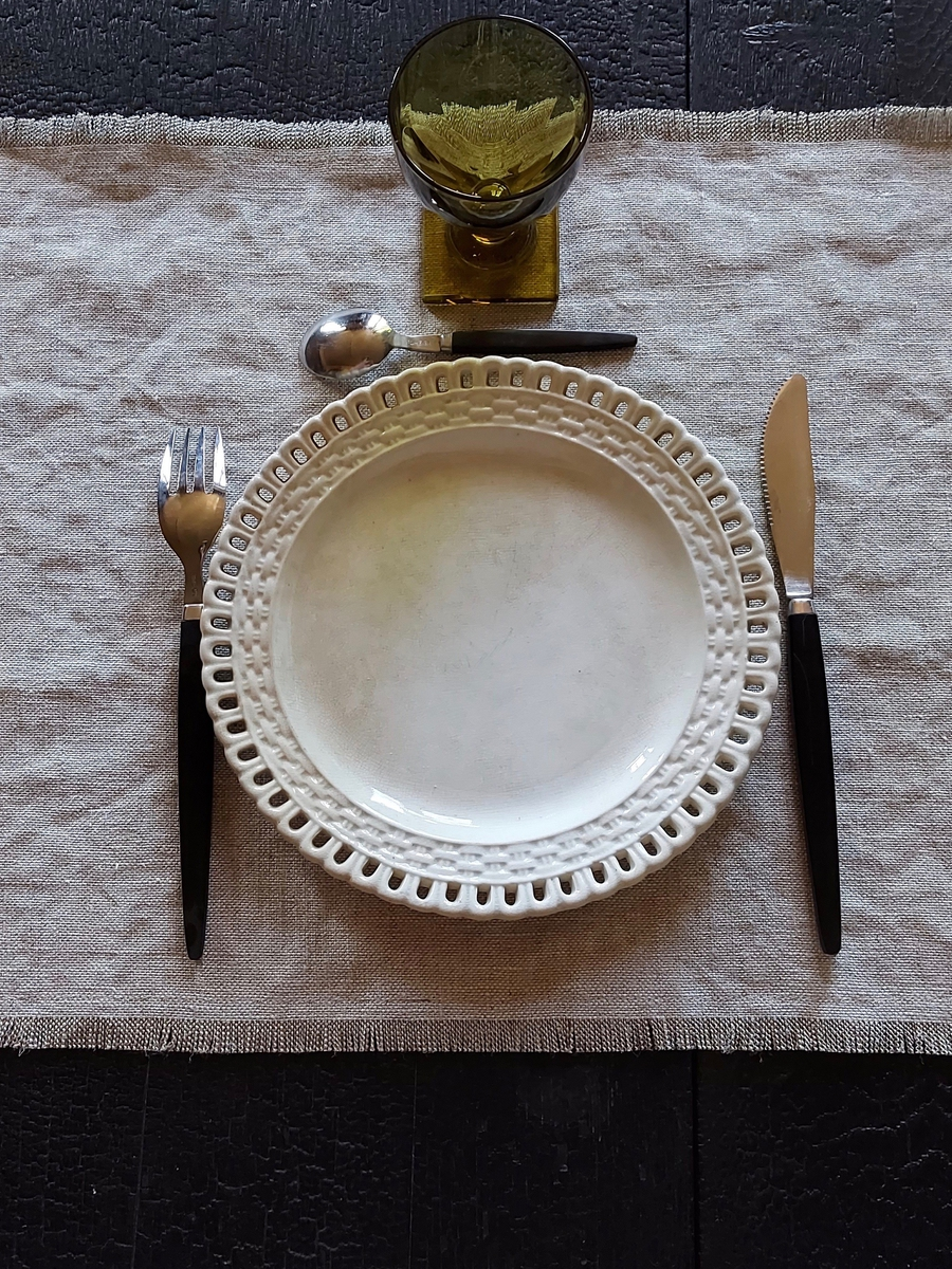 set de table en lin maison normande home decor