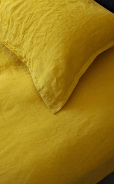 drap housse king size lin mangue MN Home Decor®