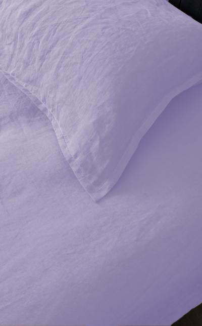 drap housse king size lin Lavande MN Home Decor®