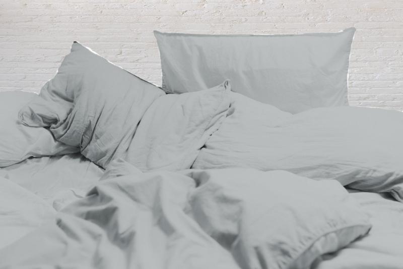 Parure de lit King Size lin gris clair Maison Normande Home Decor