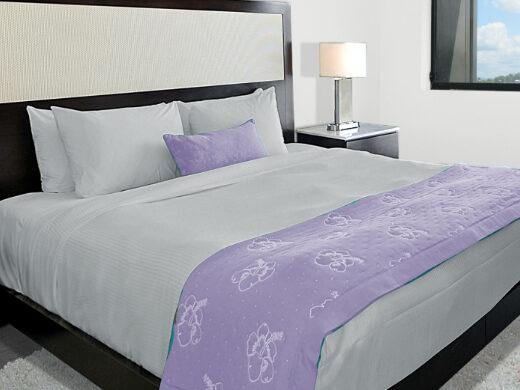 Parure de lit king size en lin Gris clair MN Home Decor®