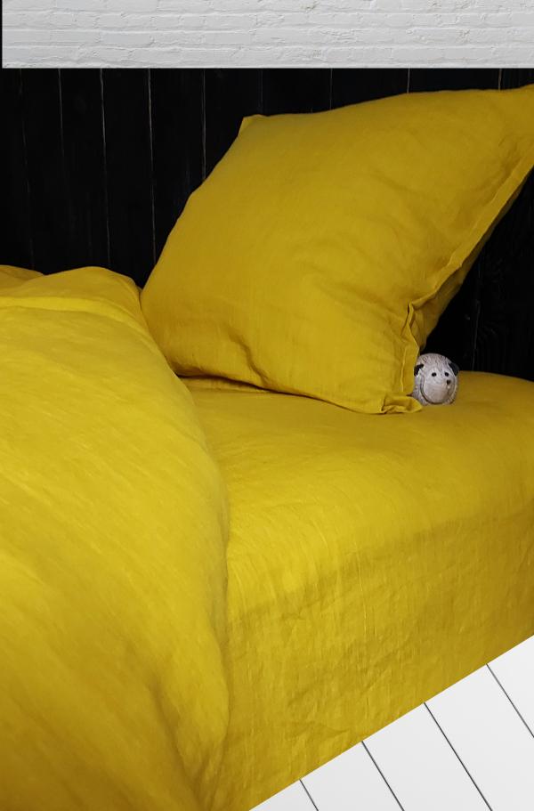 Drap housse en lin lit 140x200 Maison Normande Home Decor
