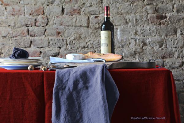 Nappe en lin spéciales grandes tables MN Home Decor®