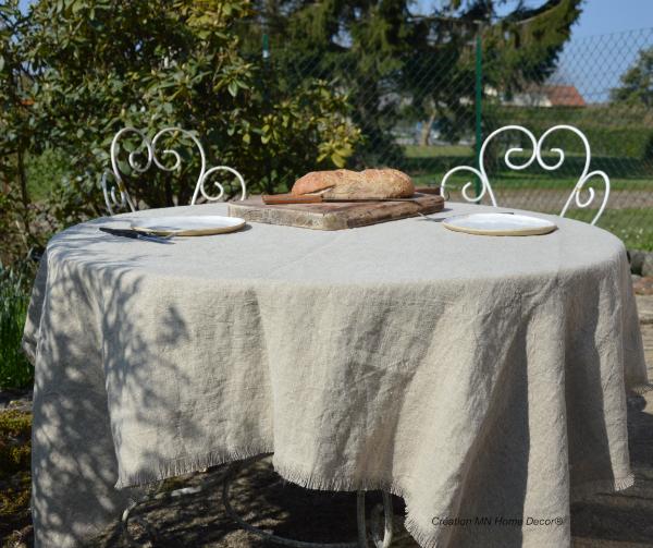 Nappe en lin 150x150cm MN Home Decor®