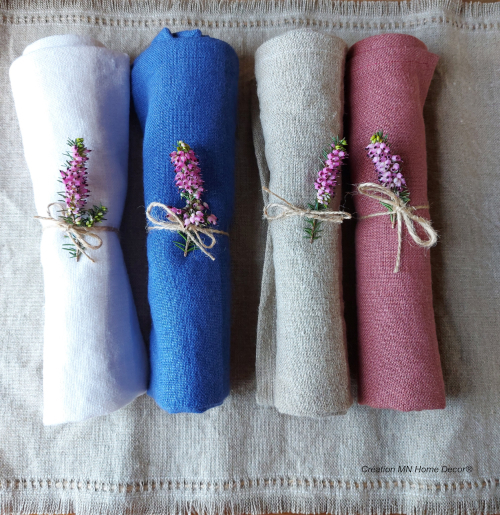 Serviettes de table en lin MN Home Decor®
